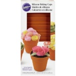 Wilton Terra Cotta Pot Shaped Silicone Baking Cups