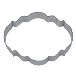 Plaque Cookie Cutter - Elegant