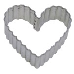 Fluted Heart Cookie Cutter - 3-1/2""