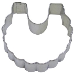 Baby Bib Cookie Cutter - Ruffled LARGE