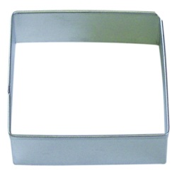 "Square Cookie Cutter - 3-1/2"" LARGE"