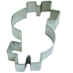Dollar Sign Cookie Cutter LARGE