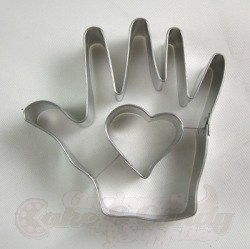 Heart in Hand Cookie Cutter
