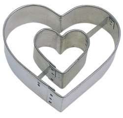 Heart in Heart Cookie Cutter LARGE