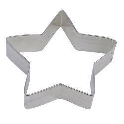 "Star Cookie Cutter - 3-1/2"" LARGE"