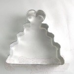 Wedding Cake w/Heart Cookie Cutter