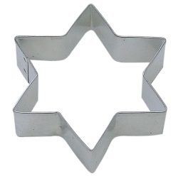 "Star Of David Cookie Cutter - 4"" LARGE"