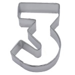 "Number ""3"" Cookie Cutter THUMBNAIL"