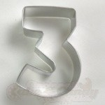 "Number ""3"" Cookie Cutter"