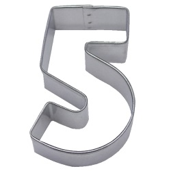 "Number ""5"" Cookie Cutter LARGE"