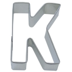 "Letter ""K"" Cookie Cutter LARGE"