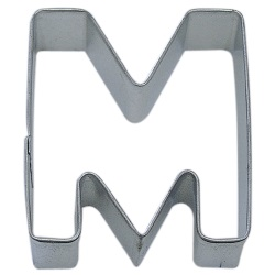 "Letter ""M"" Cookie Cutter LARGE"