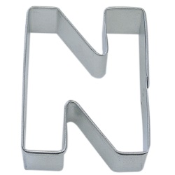 "Letter ""N"" Cookie Cutter LARGE"