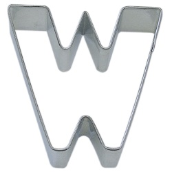 "Letter ""W"" Cookie Cutter LARGE"