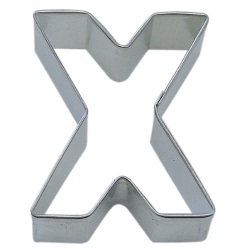 "Letter ""X"" Cookie Cutter LARGE"
