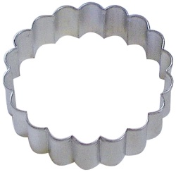 Round Cookie Cutter - Fluted LARGE