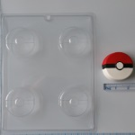 Pokeball Oreo Chocolate Mold THUMBNAIL