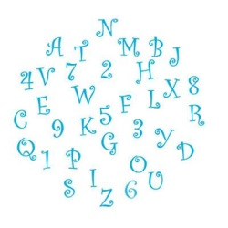 Alphabet & Number Cutter Set - Funky - Uppercase LARGE