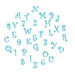Alphabet & Number Cutter Set - Funky - Uppercase