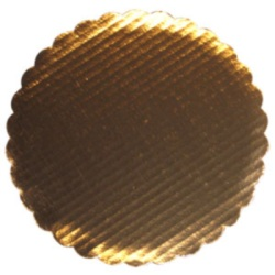 "Gold Foil Scalloped Circle - 10"" LARGE"