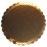 "Gold Foil Scalloped Circle - 10"" THUMBNAIL"