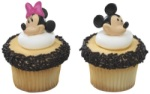 Mickey & Minnie Cupcake Rings THUMBNAIL