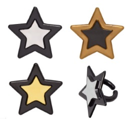 Grad Star Cupcake Rings LARGE