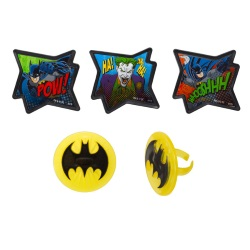 Batman Pow! Cupcake Rings LARGE