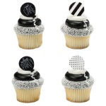 Black & White Birthday Rings