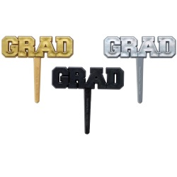 Grad Foil Cupcake Picks LARGE