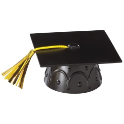 Grad Cap Layon - Black LARGE