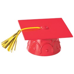 Grad Cap Layon - Red LARGE
