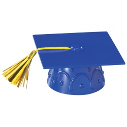Grad Cap Layon - Blue LARGE