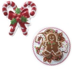 Candy Cane & Gingerbread Topper