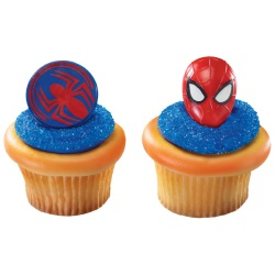 Spider-Man Cupcake Rings LARGE