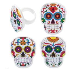 Skeleton Dia de Muertos Rings LARGE