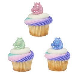 Iridescent Unicorn Cupcake Rings LARGE
