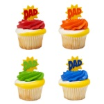 Dad Burst Cupcake Picks THUMBNAIL