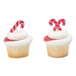 Candy Cane Cupcake Picks