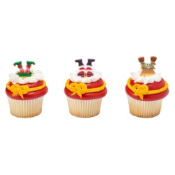 Whimsical Feet and Hats Cupcake Rings