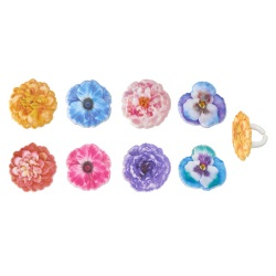 Garden Flowers Rings LARGE