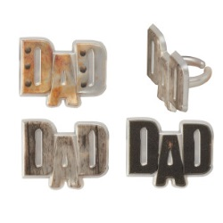 Metallic Dad Rings LARGE