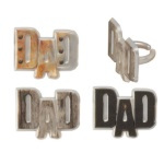 Metallic Dad Rings