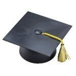 Smooth Grad Cap Layon - Black THUMBNAIL