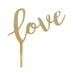 Gold Love Cake Topper Pick