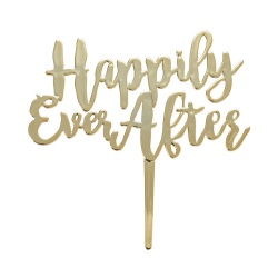 Happily Ever After Cake Topper Pick LARGE
