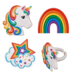 Rainbow Unicorn Assortment Rings LARGE