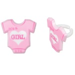 It's a Girl Onesie Rings