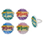 Watercolor Mom Cupcake Rings THUMBNAIL