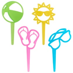 Summer Fun Cupcake Picks LARGE